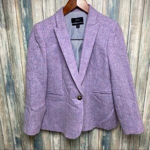 J.CREW Parke Wool Blazer sz 10P Lilac